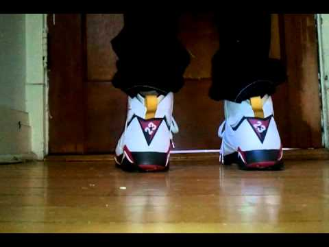 e412e56c21855f Jordan Retro 7 Cardinal On Feet - YouTube