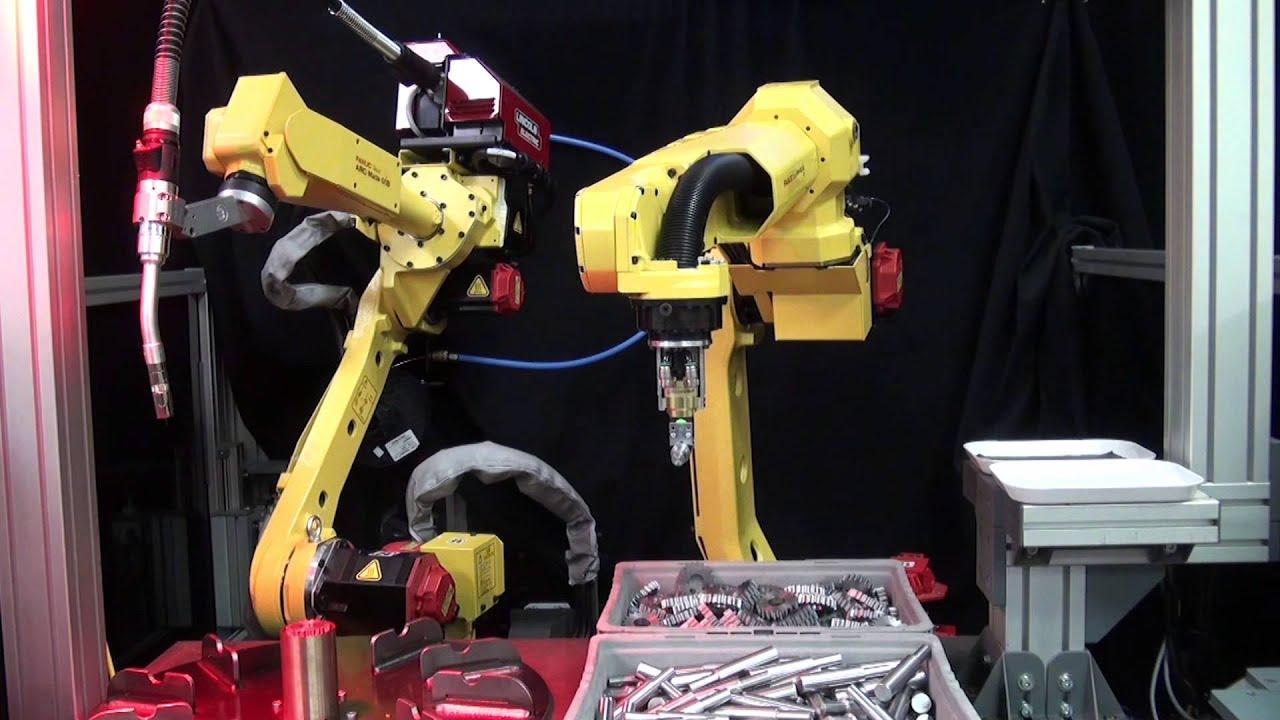 Two New FANUC Welding Robots MIG Weld Axle Transmission Shafts - FANUC  America