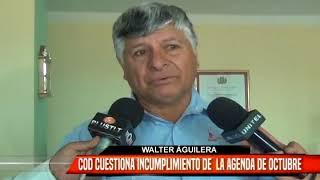 COD CUESTIONA INCUMPLIMIENTO DE LA AGENDA DE OCTUBRE