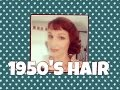Easy 50's Hair with Short Bangs-Joanne Woodward Inspired