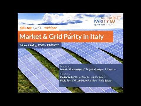 Market and Grid Parity in Italy (Solarplaza Webinar)