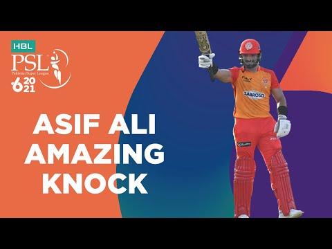Asif Ali Amazing Knock   Lahore Qalandars vs Islamabad United   Match 20   HBL PSL 6   MG2T
