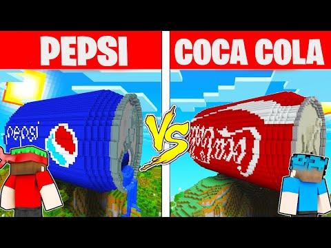 CASA COCA-COLA vs CASA PEPSI🏡 su MINECRAFT!