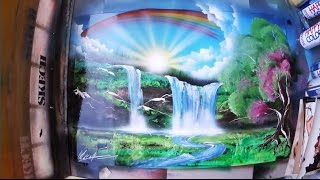 SPRAY PAINT ART Heavenly Valley 3D picture