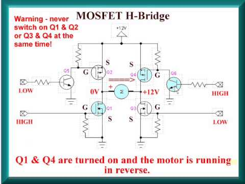 Build a Power MOSFET H-Bridge for Arduino, PIC - YouTube