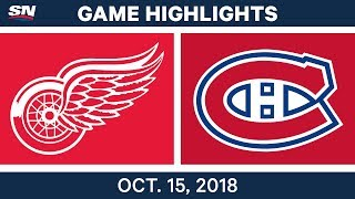 NHL Highlights | Red Wings vs. Canadiens - Oct. 15, 2018