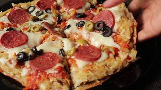 Potato Crust Pizza Without Oven  | Pepperoni Pizza - How To Make Pizza By Hafsa
