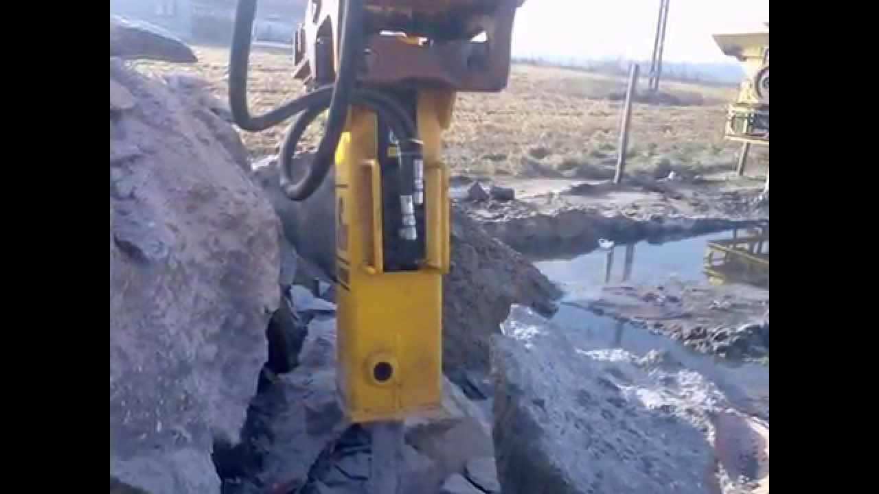 Zaktualizowano Młot hydrauliczny do koparki Mecalac - Arrowhead S60 - YouTube PB23