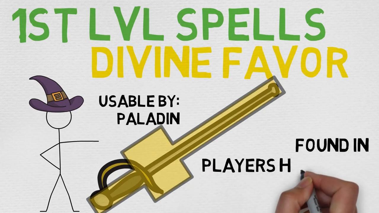 1st Level Spell 29 Divine Favor 5e Youtube September 14, 2019 by admin leave a comment. 1st level spell 29 divine favor 5e