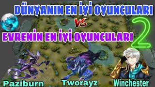 Mobile Legends DÜNYA'NIN EN İYİ OYUNCULARI VS EVRENİN EN İYİ OYUNCULARI 2