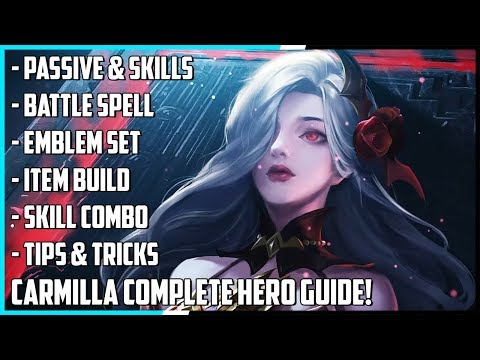 New Hero Carmilla Complete Guide! Best Build, Spells, Skill Combo, Tips & Tricks | Mobile Legends