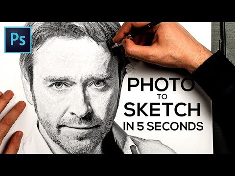 How to Turn a Photo into Pencil Drawing Sketch Effect in Photoshop