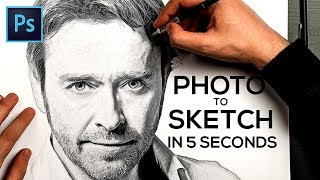 Video How to Turn a Photo into Pencil Drawing Sketch Effect in Photoshop download MP3, 3GP, MP4, WEBM, AVI, FLV Juni 2018