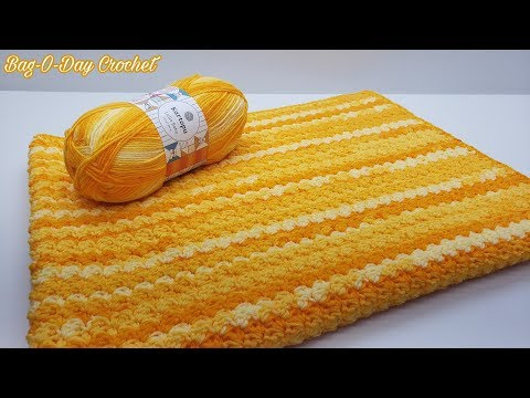 How To Crochet An Easy Baby Blanket | Dandelion Dreams | Bag O Day Crochet Tutorial #619