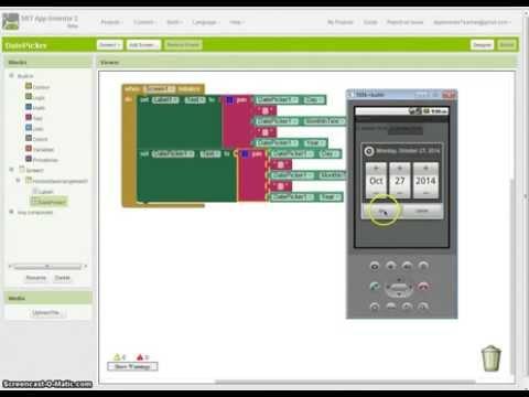 App Inventor 2 Tutorial - Using the DatePicker