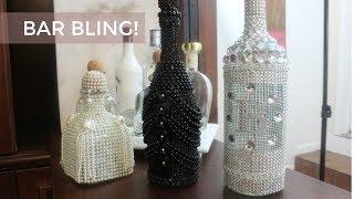 DIY I ZGallerie Inspired Bling Liquor Bottles