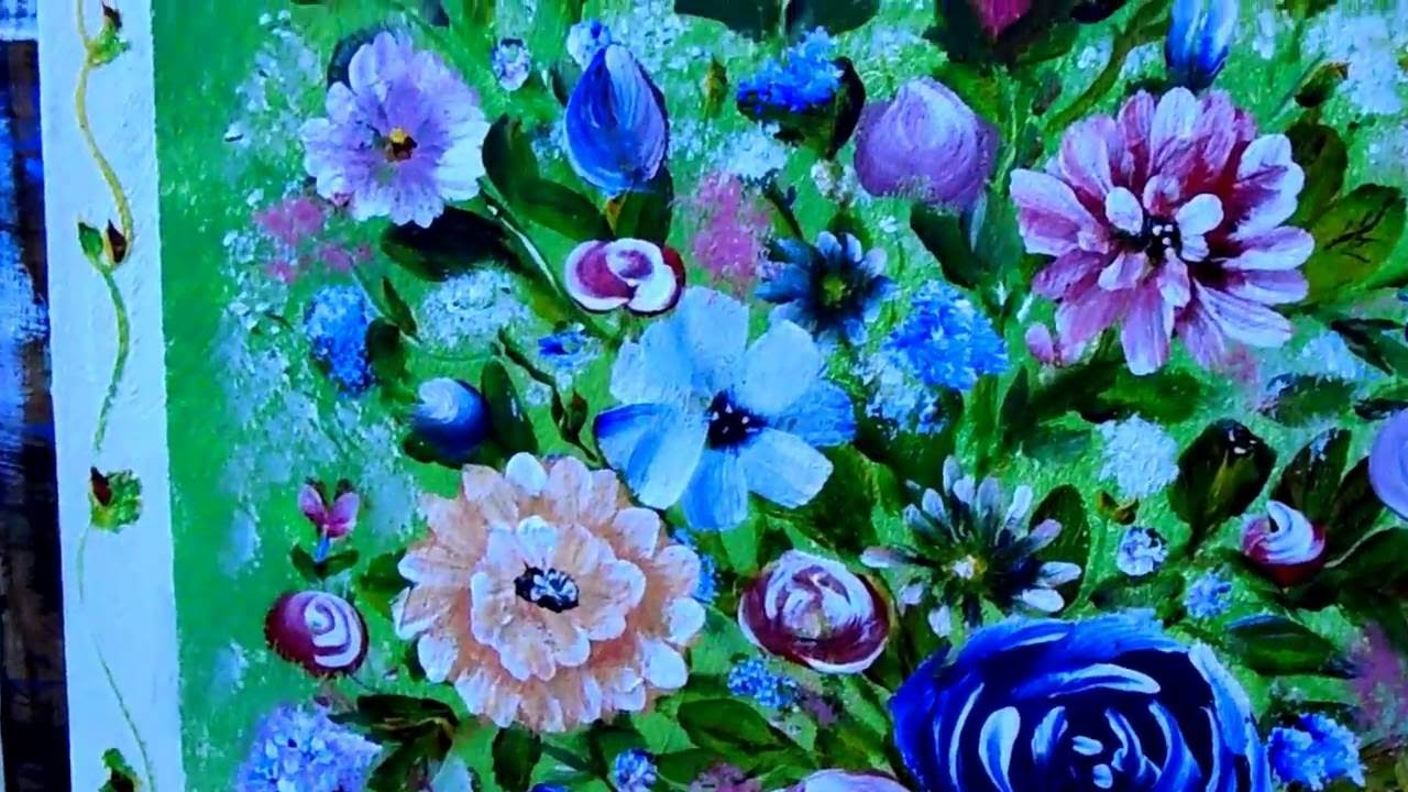Flowers in a vase acrylic painting close up of roses daisies flowers in a vase acrylic painting close up of roses daisies black eyed susan tulips reviewsmspy