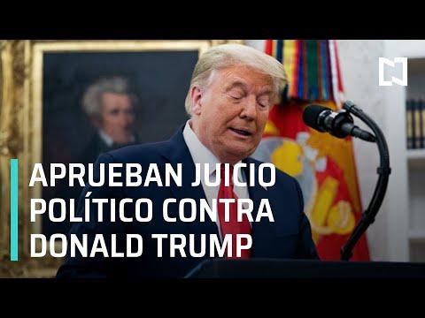Aprueban el juicio político contra Donald Trump