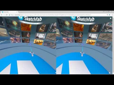 Sketchfab VR browse