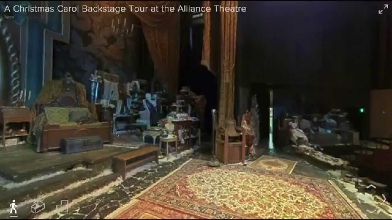 a christmas carol backstage tour at the alliance theatre atlanta ga