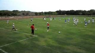 Queretaro FC entrenando en Pantla Gro.