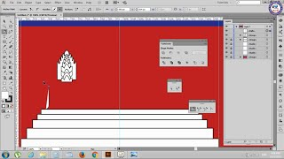 51. Adobe Illustrator Tutorials: Draw Cambodia Flag Part 1 - Khmer Computer Knowledge