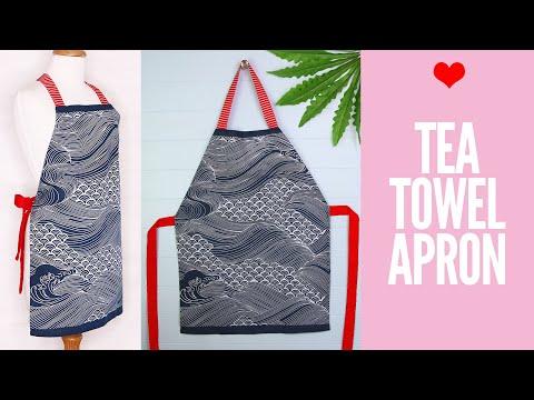 DIY Tea Towel Apron   Dish Cloth Apron Tutorial