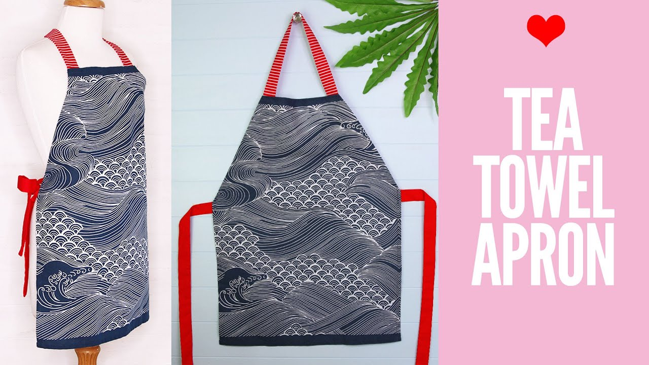 How To Make A Gorgeous Dish Towel Apron   The WHOot