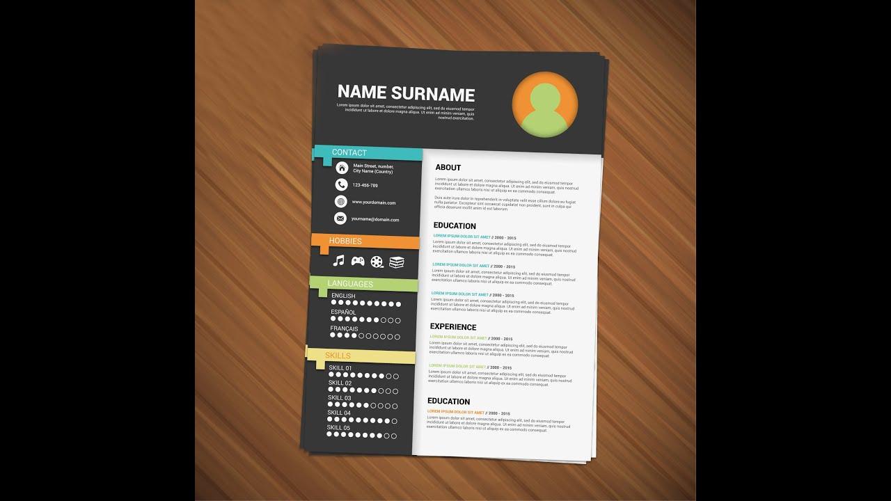 Resume Design Tutorial  Adobe Illustrator CS 6  MasterD 360 25 hf4hs  YouTube