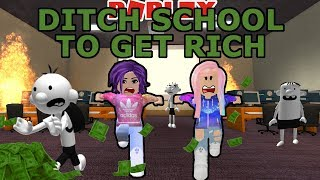 Roblox: Ditch School to Get Rich 💵 / Adventure Parkour Obby / All Levels
