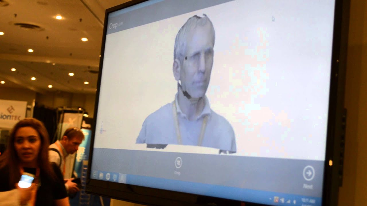 Cubify Sense 3D Scanner in Action