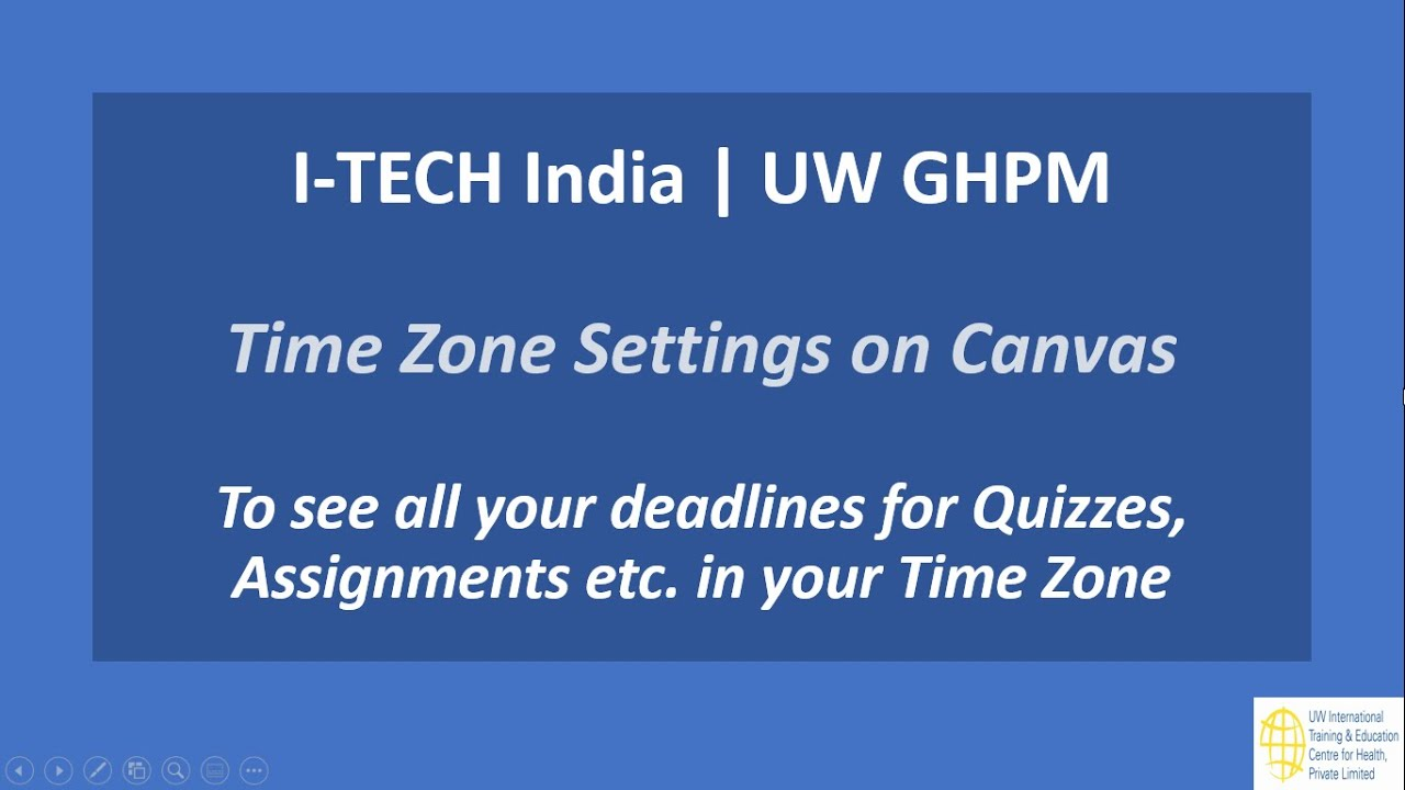 Uw Ghpm Time Zone Settings On Canvas
