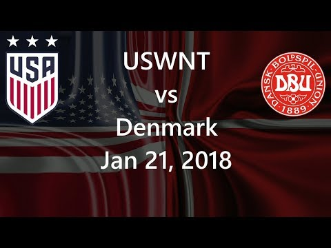 USWNT vs Denmark Jan 21, 2018