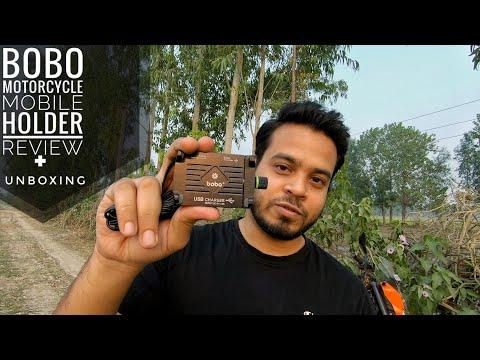 Best Mobile Phone Holder For Motorcycles/Bike | BOBO Motorcycle Mobile Phone Holder Review In Hindi