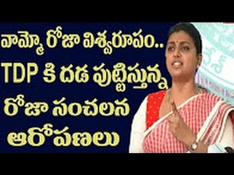 YSRCP Fire brand Roja fires on TDP MLA's Narayana and Ganta Srinivas Rao || DesiplazaTV || Dallas