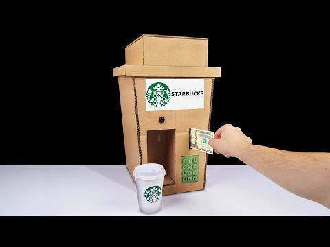 DIY How to Make Starbucks Coffee Fountain Machine from Cardboard at Home