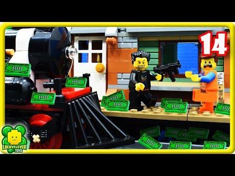 Lego Movie 2 Stop Motion Videos #14   Lego Train Station Robbery