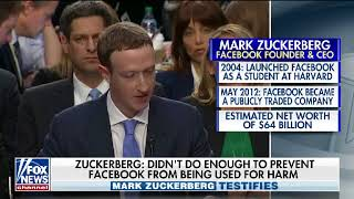Facebook CEO Mark Zuckerberg on Capitol Hill