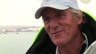 Mike Slade on 100ft maxi Leopard in the Rolex Fastnet race 2015