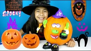 Halloween Pumpkin Decoration Mr Potato Head Witch| B2cutecupcakes