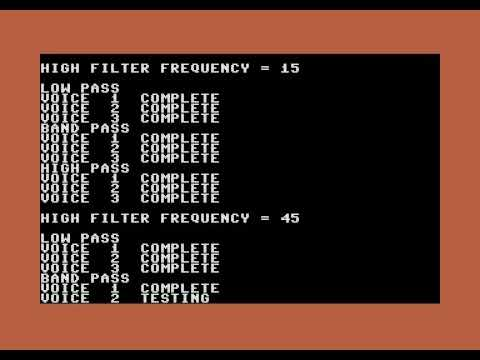 Commodore 64 SID tester video