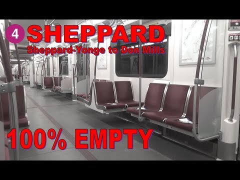 4 Sheppard Line - Sheppard-Yonge to Don Mills Station  & Back (Pandemic Subway Ride)
