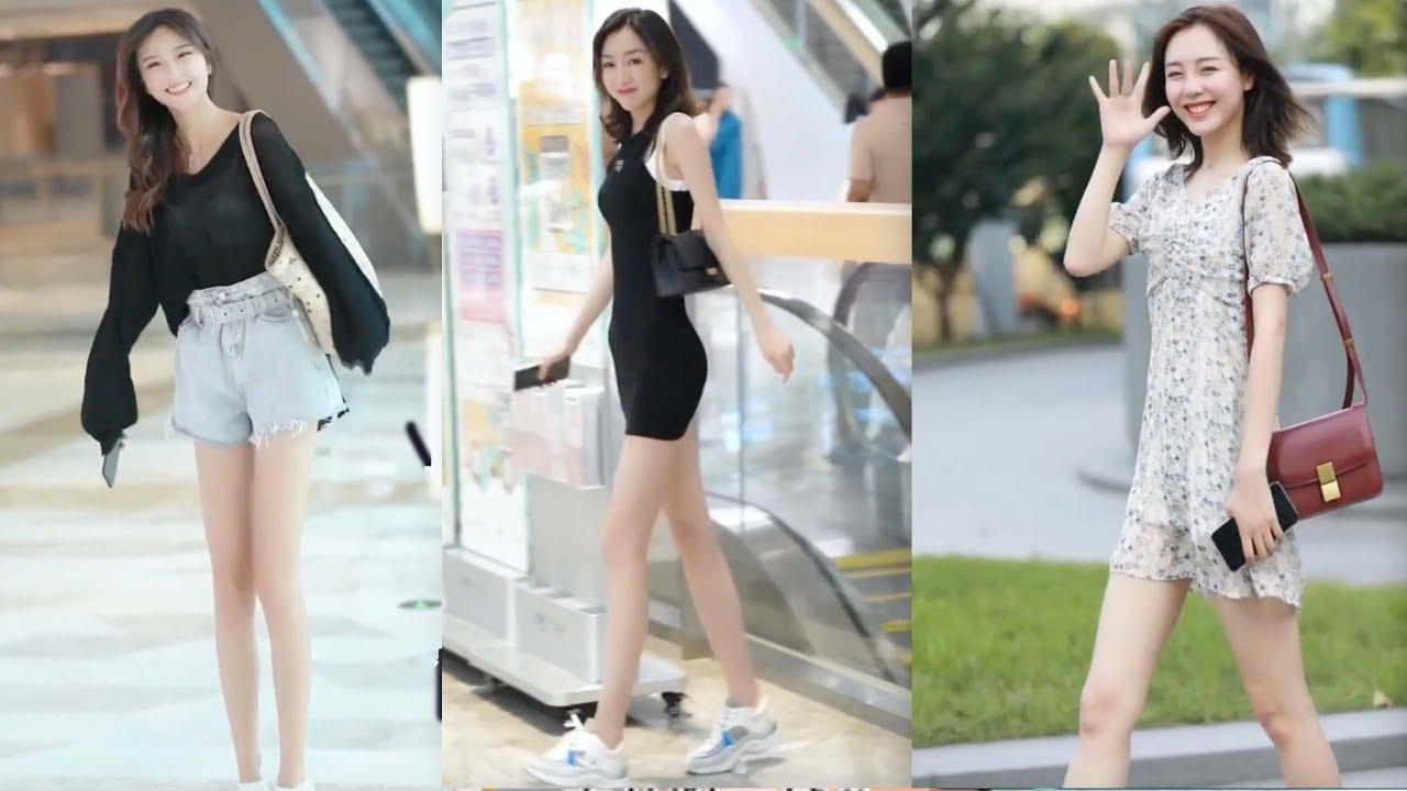 【 Tik Tok China 】 #8  Chinese Girls Fashion Style on The Street!