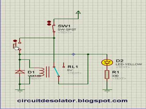 Latching Relay Circuitwmv YouTube