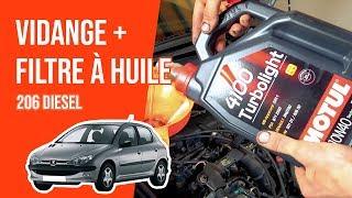 Vidange et changement du filtre à huile PEUGEOT 206 2.0 HDI 🛢