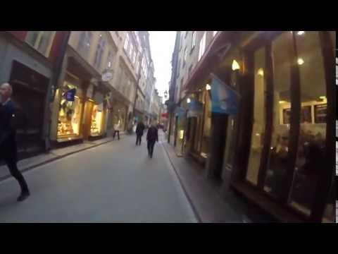 Walking In Old Town Stockholm , Sweden September 2017