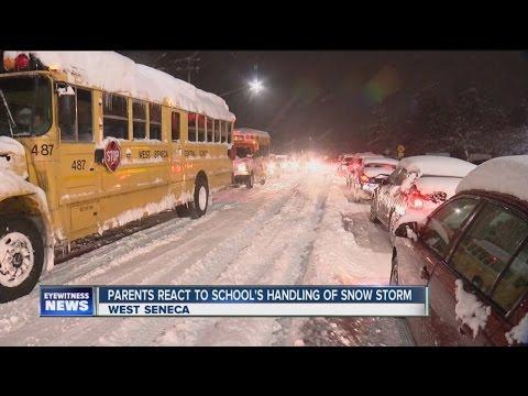 Students stuck at West Seneca school due to storm