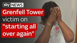 Aalya Moses, a Grenfell Tower resident who managed to escape the fi...