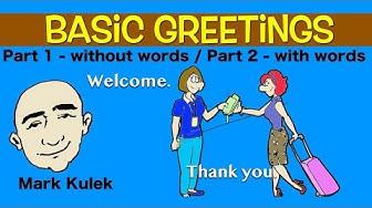 Basic Greetings in English - subtitles and no subtitles | English for Communication - ESL