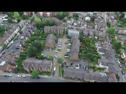 David Amphlett a drones view of East Finchley from the Windsor Castle pub U/K